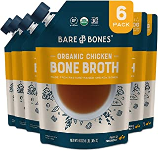 Sponsored Ad - Bare Bones Chicken Bone Broth for Cooking and Sipping, Pasture Raised, Organic, Protein and Collagen Rich, ...
