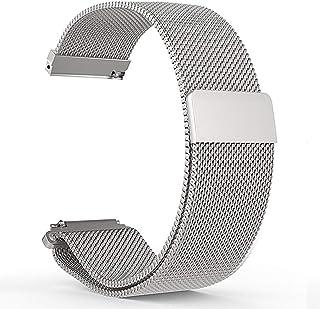 メッシュ腕時計バンド ブラック メンズ メタルウォッチストラップ シルバー磁気時計バンド レディース ゴールド ミラネーゼループ腕時計バンド 12-24mm 14mm シルバー