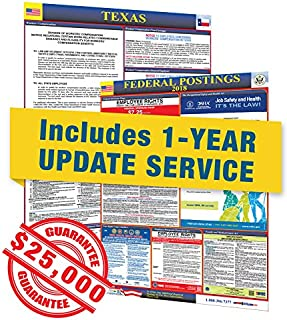 2019 Texas State and Federal Labor Law Posters in Spanish with 1 Yr E Update Service