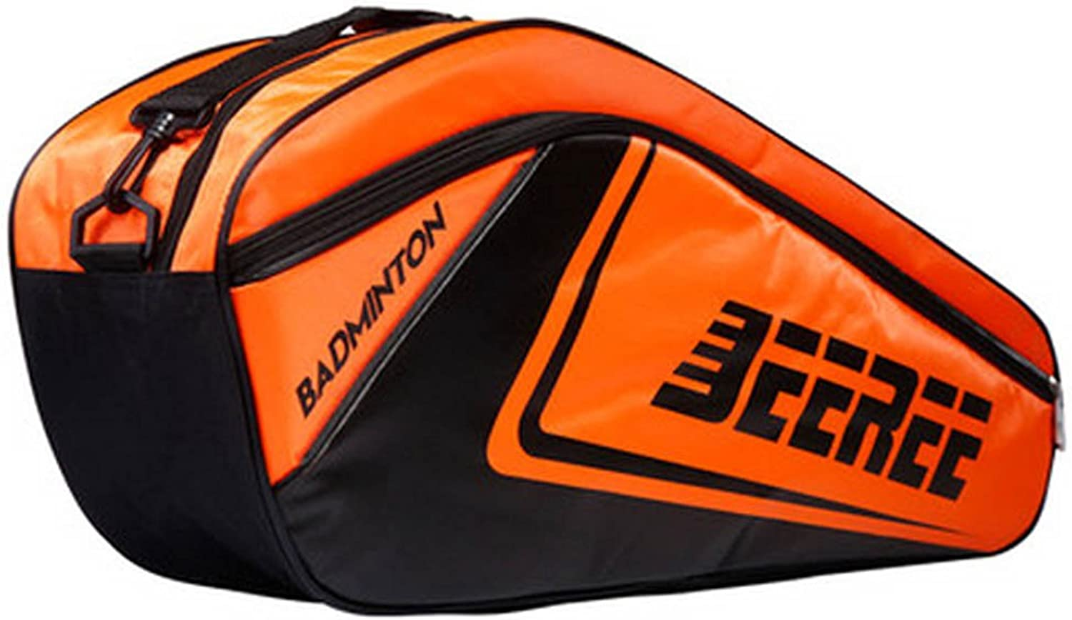 Adjustable Shoulder Strap Badminton Racket Cover Badminton Racket Bag Tennis Bag (6 Racquet), orange
