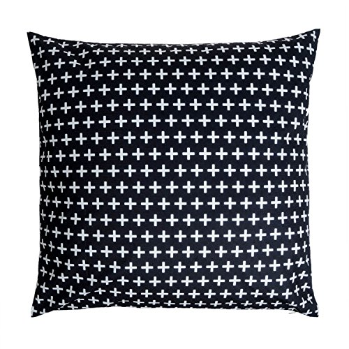 Black Velvet Studio Funda cojín Nordic 100% poliéster, Color Negro y Blanco. Su Dibujo geométrico Sigue la Moda del Momento. 60x60 cm.