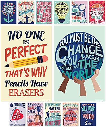 """Sweetzer & Orange Growth Mindset Posters for Middle and High School Classroom Decorations – Set of 13 Motivational Posters, Inspirational Posters and Quote Posters! 15 x 22"""" Large Poster Bundle"""