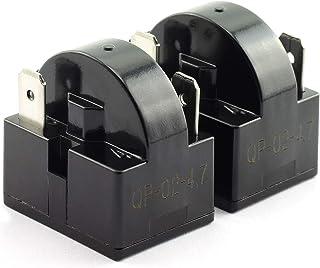 ToToT 2pcs QP-02-4.7 PTC Refrigerator Start Relay 3 Pin Coolers Compressor Starter 4.7 ohm