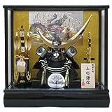 京寿 五月人形 兜飾り ケース入り 木製弓太刀付 間口43×奥行30×高さ41cm 12号上杉兜ケース飾り YN5516GKC