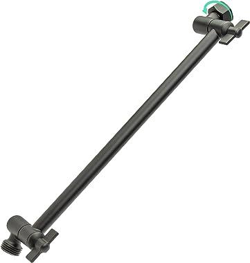 ZYNAFLO Shower Head Extension Arm - 12-Inch Adjustable Showerhead Extender Arm (Matte Black)