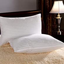 Clasiko White Pillows (Set of 2) for Sleeping; Size 17x27 Inches; 1 Year Warranty; Vacuum Pack