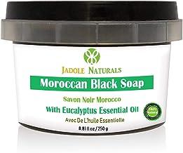 Jadole Naturals Moroccan Black Soap With Eucalyptus Essential Oil, Beldi Soap,250 ml