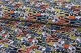 Qualitativ hochwertiger Jersey Stoff mit bunten Autos und