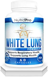 White Lung by NutraPro - Lung Cleanse & Detox. Supports Respiratory Health. 60 Capsule - Made in GMP Certified Facility.
