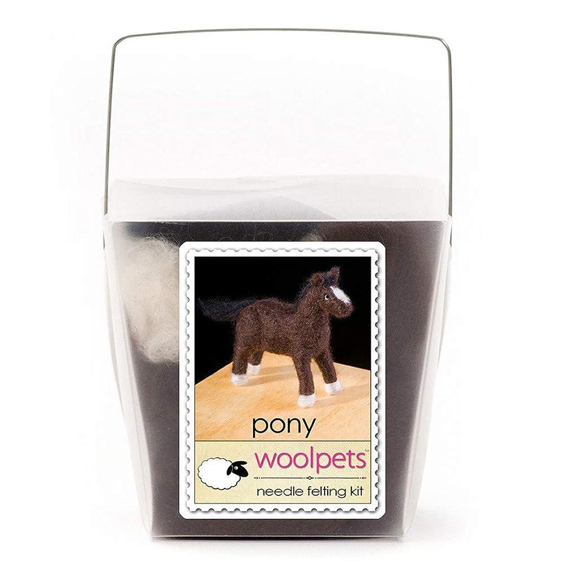 Woolpets, Needle Felting Kit, Intermediate, Pony, 1016