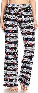 LEGGINGS DEPOT Women's Popular Comfortable Casual Solid and Print Pajama Lounge Pants