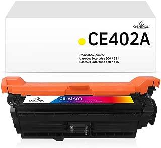 ChenPhon Compatible Toner Cartridge Replacement for HP 507A 507X CE402A Yellow Y Toner Ink for HP Laserjet Enterprise 500 Color M551dn M551n MFP M575c M575dn Printer
