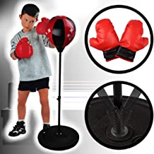 h/öhenverstellbar 80-110 cm Stimo Punchingball Box Set inklusive Boxhandschuhe f/ür Kinder//Jugend