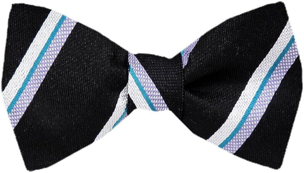 Men's Black Silk Self Tie Bowtie Tie Yourself Bow Ties