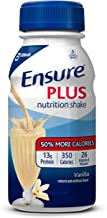 Ensure Plus Nutrition Shake with 13 grams of high-quality protein, Meal Replacement Shakes, Vanilla, 8 fl oz, 24 count