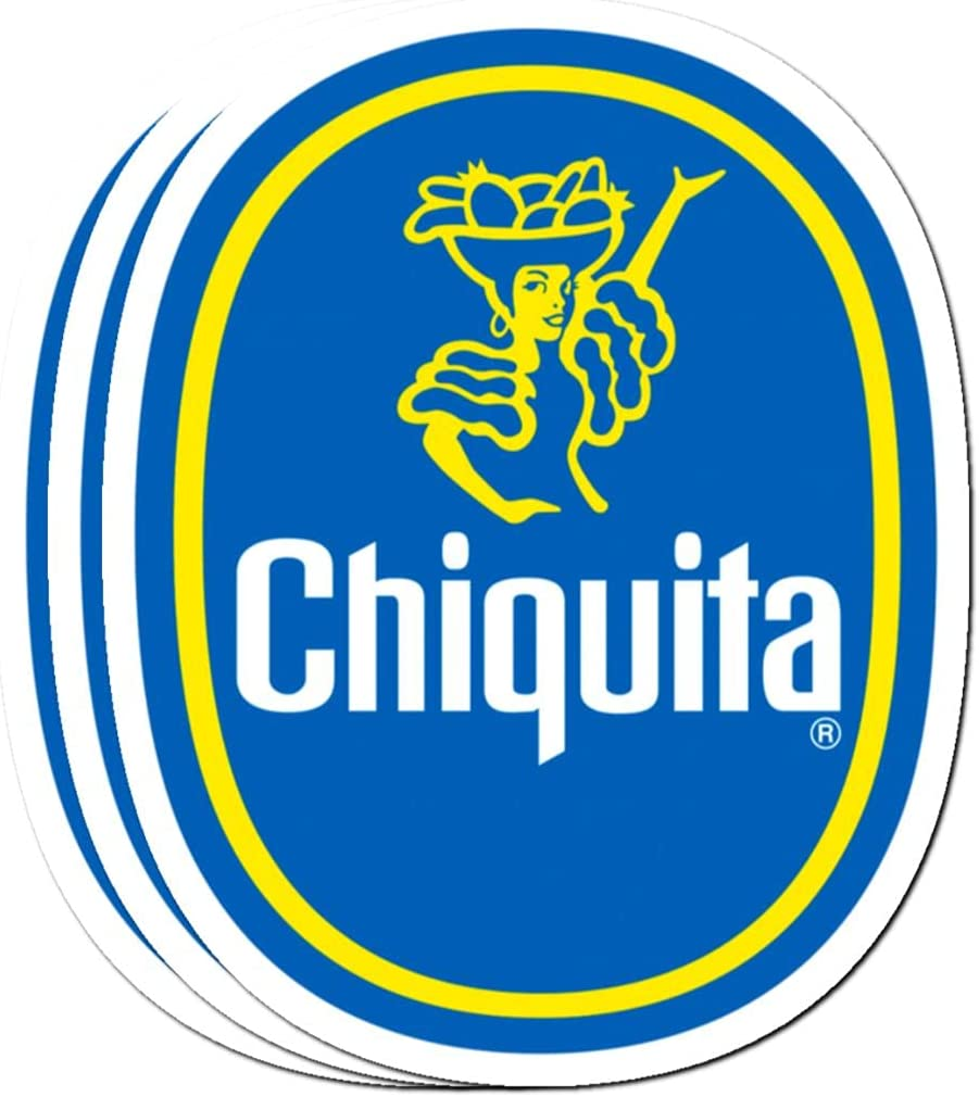 Sticker Pack 3, Vinyl Stickers for Adults Chiquita Laptop Banana Journaling Logo Bike 2 Teens Classic Kids for Water Bottle Bumper Car Luggage Guitar Skateboard (3pcs/Pack)