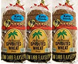 oasis foods company - Oasis Flaxseed Bread, 3 Pack- Low Carb, Keto, All Natural, Sprouted