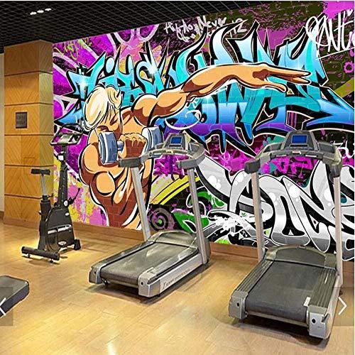 3D vliesbehang fotobehang abstract nieuwigheid graffiti-wandschilderij behang voor turnhall-ruimte-straat 3D drukfoto-wandschildering-behang-wand-decoratieve wandafbeeldingen 250*175 250 x 175 cm.