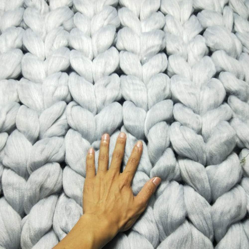 Couvertures Tricotées, Couvertures Grossières en Laine, Couvertures De Canapés Tissées à La Main, Couvertures De Lit Chaudes Et Confortables (19 Types De Couleurs) 15