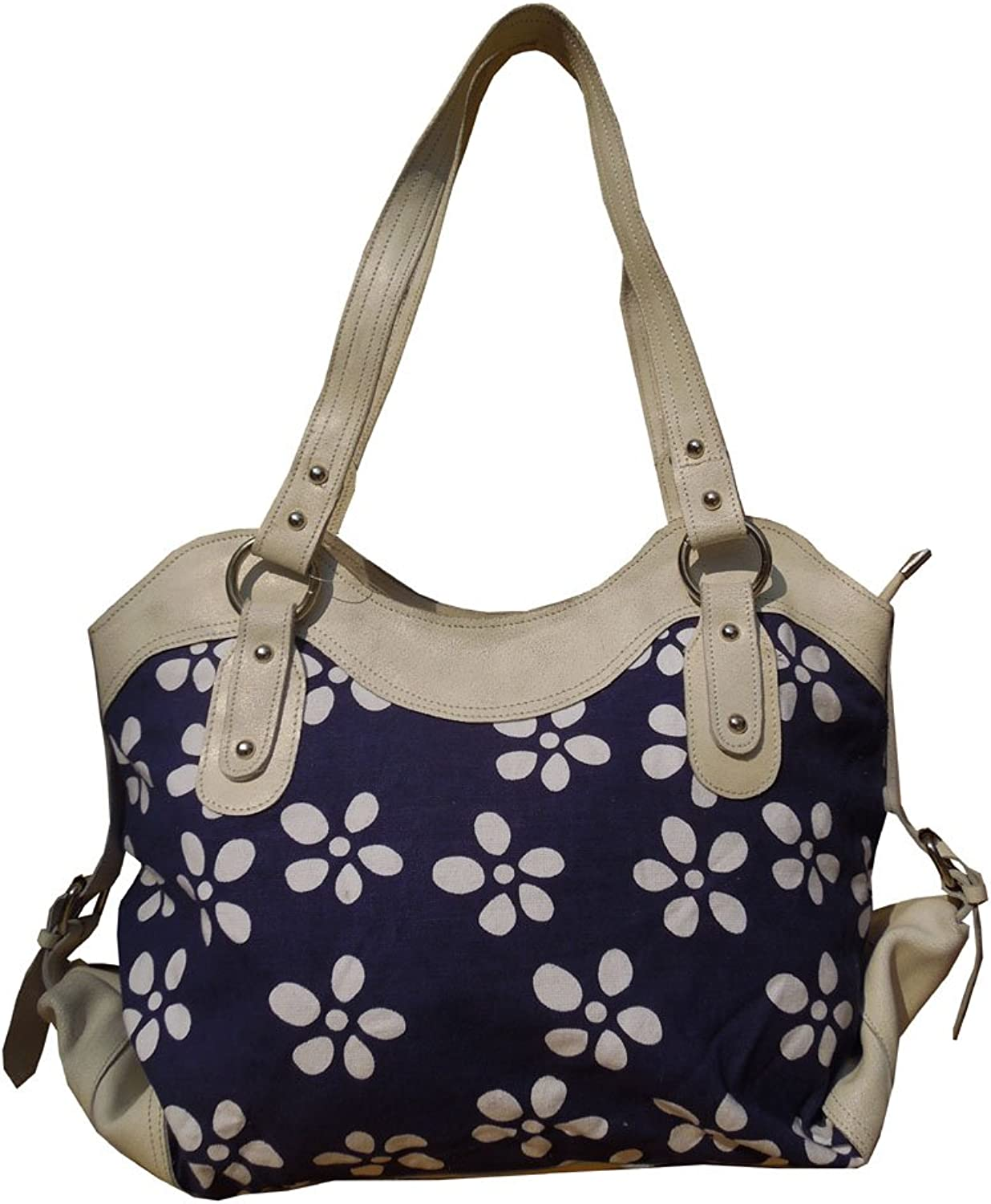 Spice Art White Distress Cow Genuine Leather Women's Hand Bag
