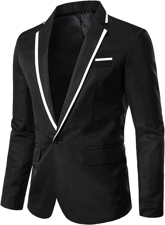 Men's Suits One Button Blazer Jacket Slim Fit Suit Dress College Business Wedding Party