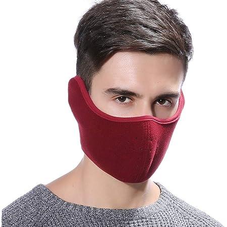 Vosarea Gesichtsmaske Motorrad Fahrrad Ski Mundschutz Maske Half Face Maske Gesichtswärmer Sport Freizeit