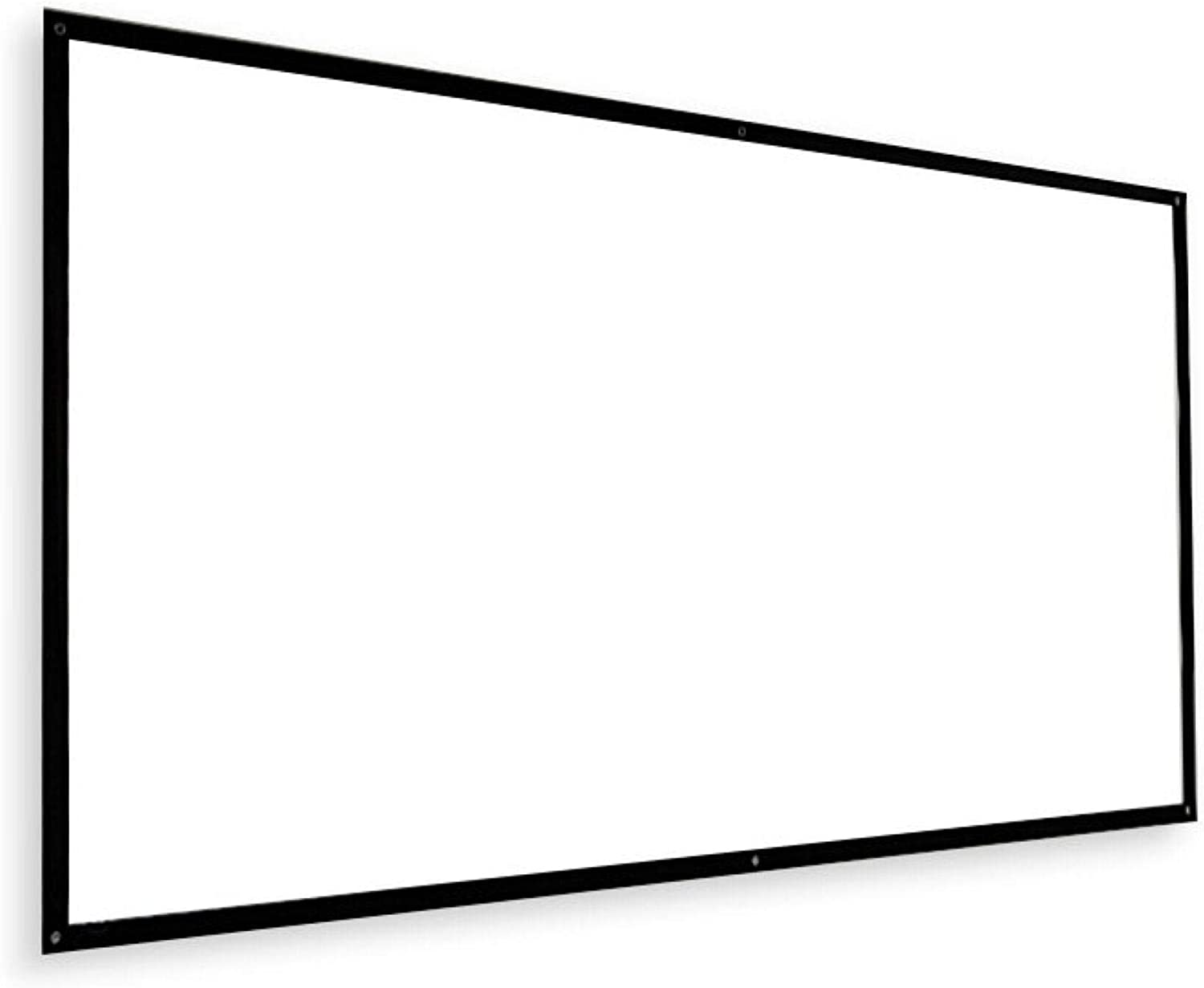 FMOGE Projection Screen 120-Inch Portable Projector Screen White Plastic Simple Curtain HD for Home Cinema and Outdoor