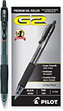 PILOT G2 Premium Refillable & Retractable Rolling Ball Gel Pens, Fine Point, Black Ink, 12 Count (31020)