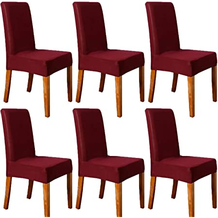 Velvet Dining Chair Covers Wedding Slipcovers Christmas Party Banquet Seat Cover