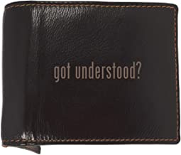 got understood? - Soft Cowhide Genuine Engraved Bifold Leather Wallet
