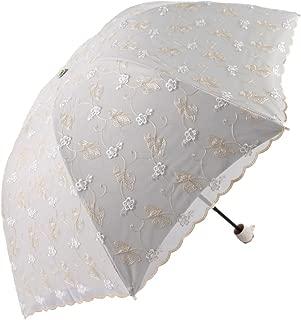 Honeystore Travel Sun Parasol Folding Brolly Anti-uv Sunshade Vintage Umbrella 3 Folding Yellow