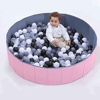 حوض لعب للاطفال قابل للطي 120 × 30 سم مع كرات 7 سم 100 قطعة من بيبي لوف، 33-190903