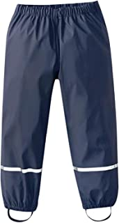 Vincent & July Kids Rain Pants Waterproof Lightweight Breathable Toddler Rainwear Mud Dungarees Trousers