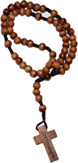 wooden rosary beads from jerusalem