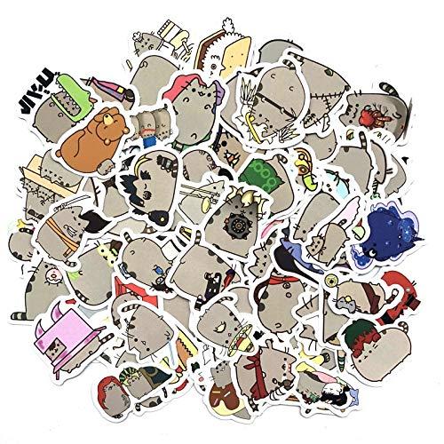 PMSMT 100 unids/Pack Pegatinas Bonitas de decoración de Gato Gordo, Pegatina de Papel DIY, álbum de Recortes para Diario, Etiqueta de álbum, Pegatina de Viaje para Diario