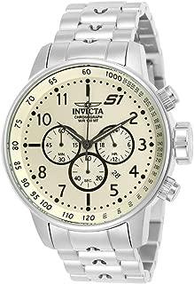 Invicta 23077 Reloj para Hombre, color Beige/Plata