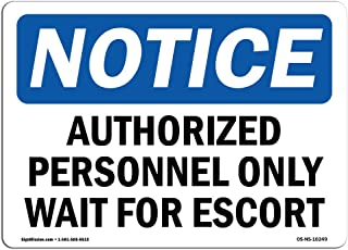 Controlled Area Training Or Escort Required Sign Label Decal Sticker Retail Store Sign Sticks to Any Surface 8 Notice