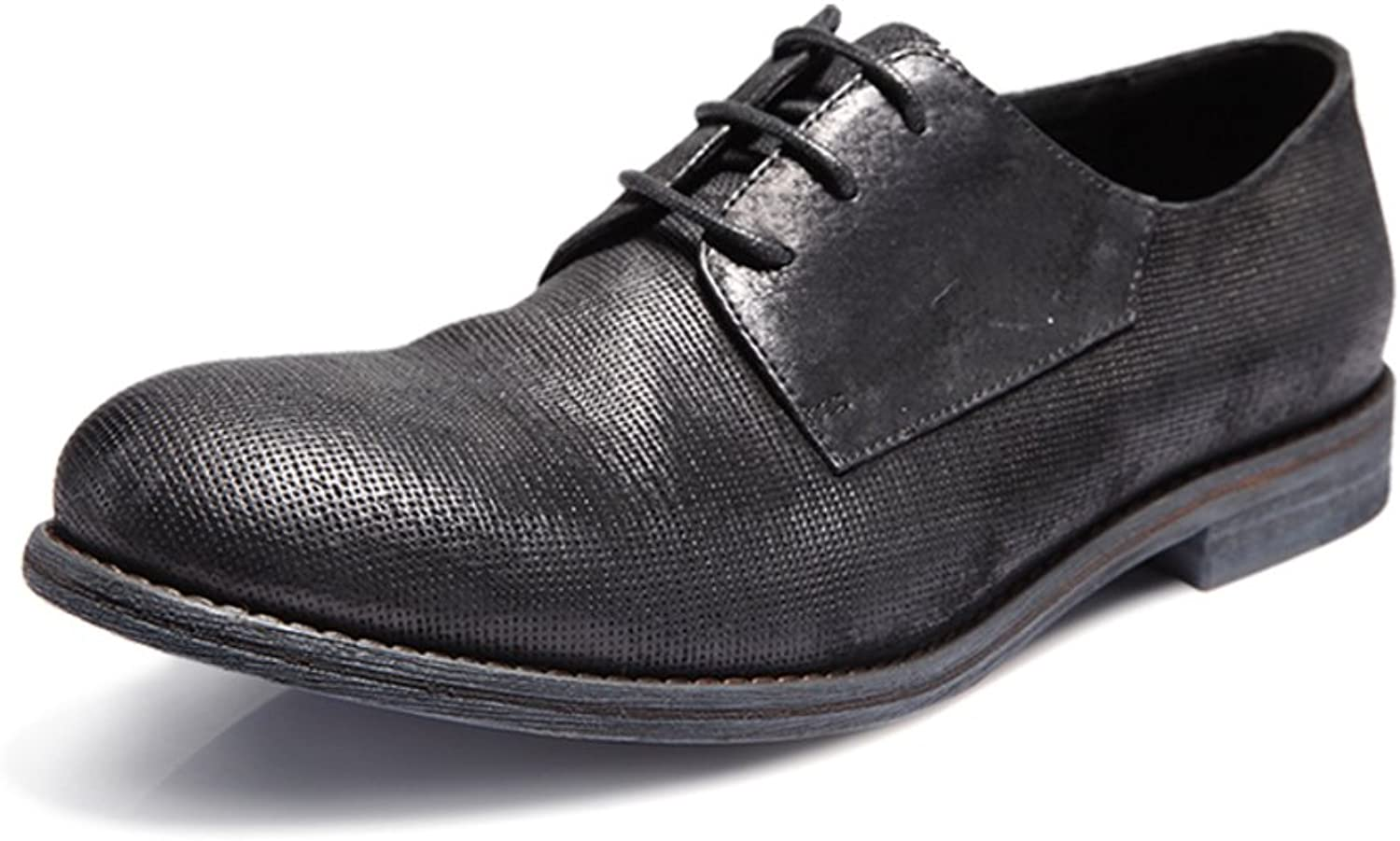 WLJSLLZYQ Trend of Men's shoes in Spring and Summer Retro Old British Business Casual shoes