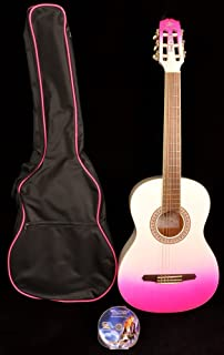 SX GC Rose 1K PKB Acoustic Guitar 37 inch with Carry Bag and Instructional DVD