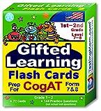 TestingMom.com CogAT Test Prep Flash Cards – Grade 1 (Level 7) - Grade 2 (Level 8) – 140+ Practice Questions – Tips for Higher Scores on The 1st Grade - 2nd Grade CogAT – Verbal & Non-Verbal