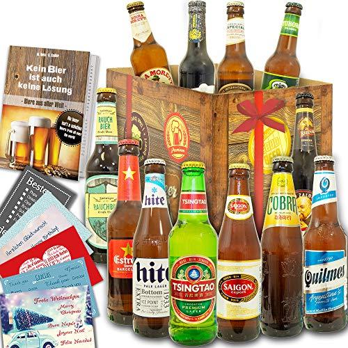 12er Bier Geschenkset/Biere aus der Welt/Geburtstags Geschenkbox Bier