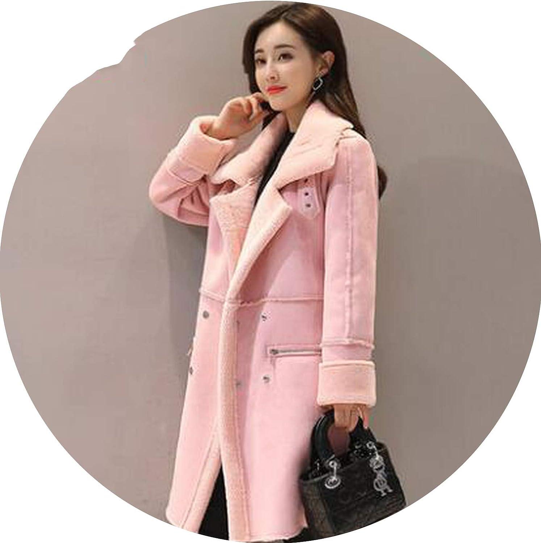 Coat Bayan Wild Boar Jacket for Women Long Coat Blends One Button DeerVest Windbreaker