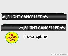 Flight Cancelled Gun Barrel Decal .75