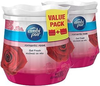 Ambi Pur Gel Air Freshener, Romantic Rose, 180g (Pack of 2)