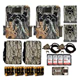 Browning Trail Cameras 16 MP Strike Force Extreme Game Cam Two-Pack Bundle with Batteries, Cards, Reader, Cable Lock, Security Box, and Power Pack (17 Items)