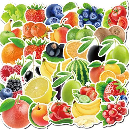 JZLMF 100 Piezas de Pegatinas de Graffiti de Frutas, Verduras y Plantas, Pegatinas de Coche, Tazas de Agua, Maletas de teléfono móvil, Pegatinas Impermeables para niños y niñas