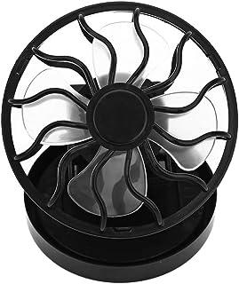 FairytaleMM Ventilador de enfriamiento Solar con Abrazadera Ángulo Ajustable Mini Ventiladores para Oficina Hogar Duradero Super Mute Cooler Durable-Negro
