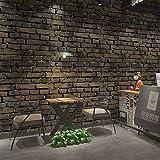 Jidan 3D Dreidimensionale Brick Imitation Brick Antike Ziegel Retro Ziegelstein-Muster Brick Tapete Restaurant Restaurant Cafe Technik Tapete (Color : D)