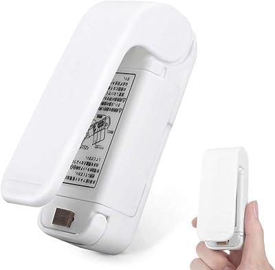 Sellador de bolsas mini SUNMCCN de mano de calor al vacío, sellado de bolsas portátiles, máquina de sellado para bolsas de plástico para almacenamiento de alimentos, aperitivos y frescura