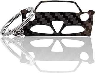BlackStuff Llavero De Fibra De Carbono Cadena De Claves Compatible con Alfa 4C